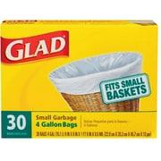 Glad® Small Garbage Bags, 4 Gallon, 30 Trash Bags/Box