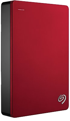Seagate Backup Plus 4TB USB 3.0 External Portable Hard Drive, Red (STDR4000902)
