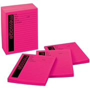 """Post-it® Telephone Message Pads, 4"""" x 5"""", Pink, Lined, 12 Pads/Pack (7662-12-SS)"""