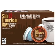 San Francisco Bay OneCup Breakfast Blend Single Serve Coffee, 80 Pack