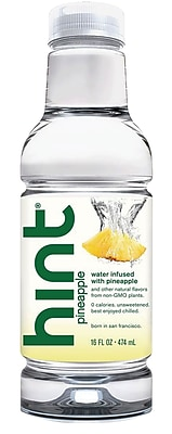 Hint Pineapple Water, 16 oz. Bottle, 12/Ct
