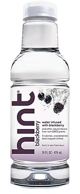 Hint Blackberry Water, 16 oz. Bottle, 12/Ct