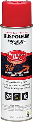 INDUSTRIAL CHOICE® Aerosol Can Marking Paint, Modified Alkyd, Safety Red, 17 oz.