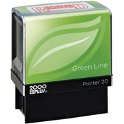 2000LUS Green Line Self inking Stamp, Received, Red Ink by
