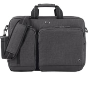 Solo Urban Polyester Top Loading Hybrid Briefcase, Grey (UBN31010)