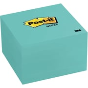 """Post-it® Notes, Aqua Wave, 3"""" x 3"""", 5 Pads/Pack (654-5AW)"""