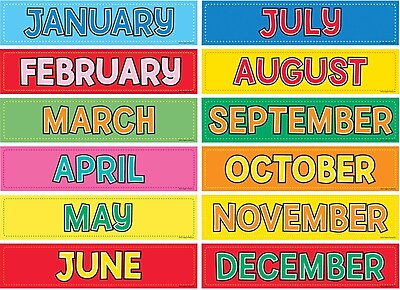 Hygloss™ Monthly Calendar Cards