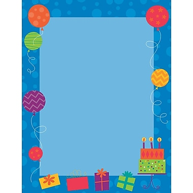 Great Papers! Birthday Party Letterhead, 8.5