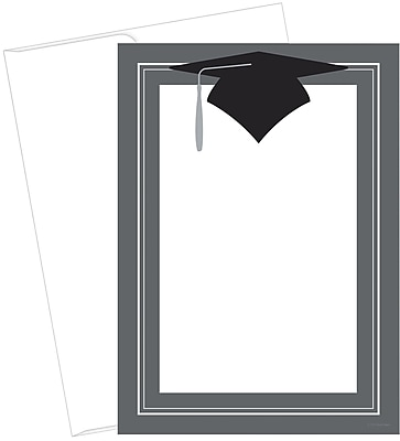 Great Papers! Class Hat Flat Card Invitation, 5.5