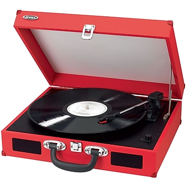 Portable 3 Speed Stereo Turntable with Built In Speaker