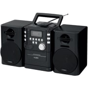 Portable Music System with CD Cassette and FM Radio