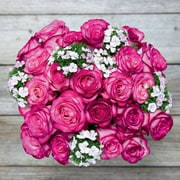 The Bouqs Company Desperado, 12 Roses with Accents with Vase