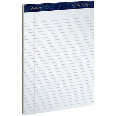 Ampad® Gold Fibre® Perforated Notepad, 8-1/2