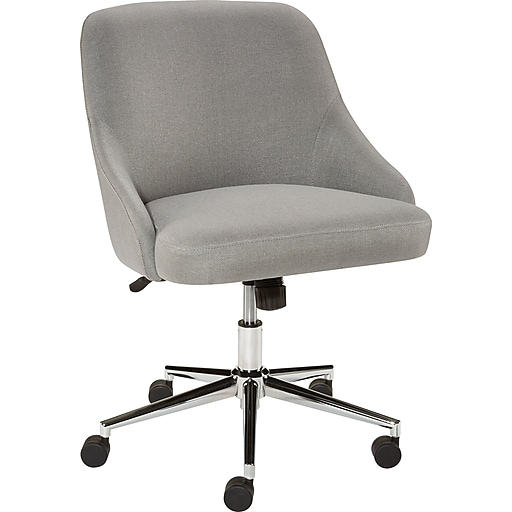 staples trulli fabric club chair gray staples