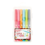 Erin Condren Markers- Party Pops, Fiber Point Pens, 6/Pack Assorted Colors  (140896)
