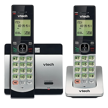 VTech CS5119-2 DECT 6.0 Expandable Cordless Phone with Caller ID/Call Waiting, Silver with 2 Handsets