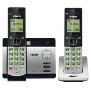 VTech CS5129-2 DECT 6.0 Expandable Cordless Phone with Answering System and Caller ID/Call Waiting, Silver with 2 Handsets
