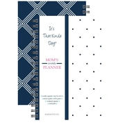 "Kahootie Co™ It's That Kinda Day™-  Mom's Weekly Planner, 6"" x 9"", Navy and White (ITKMNW)"
