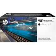 HP 981Y Black PageWide Ink Cartridge (L0R16A), Extra High Yield