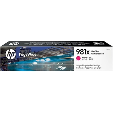 HP 981X Magenta PageWide Ink Cartridge (L0R10A), High Yield
