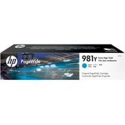 HP 981Y Cyan PageWide Ink Cartridge (L0R13A), Extra High Yield
