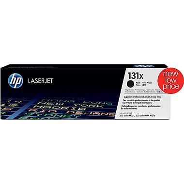 HP 131X Black Toner Cartridge, High Yield (CF210X)