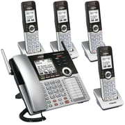 VTech CM Series 4-Line Small Business Phone System – Cordless Office Bundle with CM18445 + Four CM18045