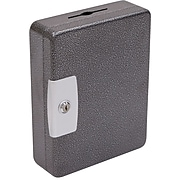 Hercules Key Cabinets Key Lock, 100-Key, Steel, Silver Vein