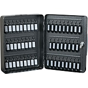 Hercules Key Cabinets Key Lock, 52-Key, Steel, Silver Vein