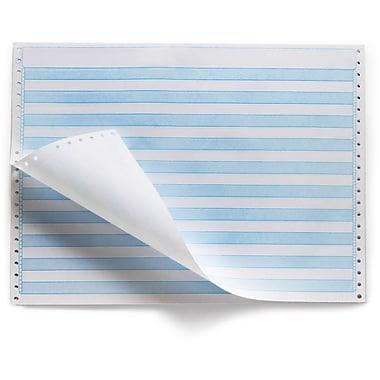 Staples Blue Bar Computer Paper, 14 7/8