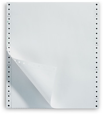 Staples Recycled Blank White Computer Paper, 18lb, 9 1/2