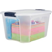 Staples 40 Quart Plastic Locking Lid Container