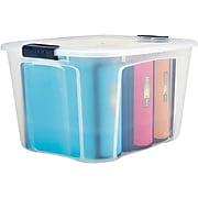 Staples 71 Quart Plastic Locking Lid Container