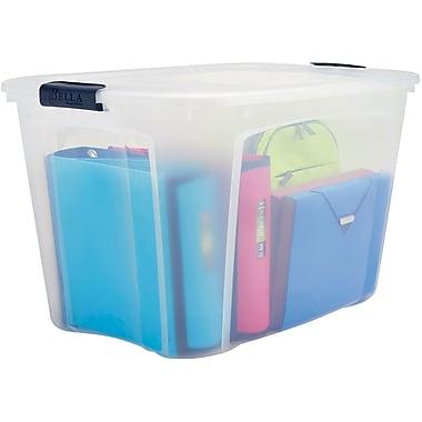 Staples 121 Quart Plastic Locking Lid Container