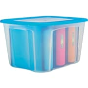 Staples 72 QT Plastic Flat Lid Tote (28762)