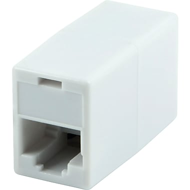 Staples® CAT5e Inline Coupler, White