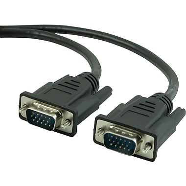 Staples® 10' VGA/SVGA Monitor Cable, Black