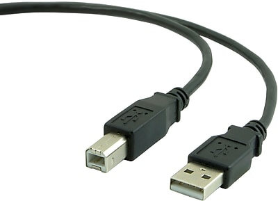 Staples 15' A/B USB 2.0 Cable, Black
