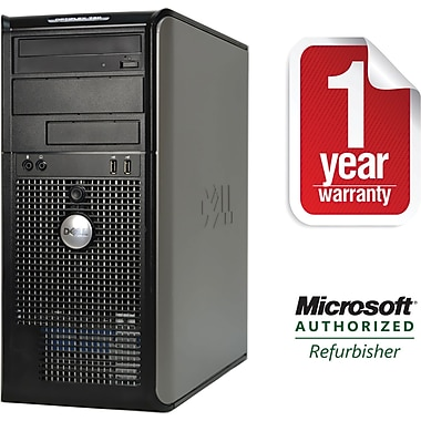 DELL 780 Tower Core 2 Duo-2.93GHz, 4GB Ram, 750GB, DVDRW Drive with Win 10 Pro 64bit Refurbished