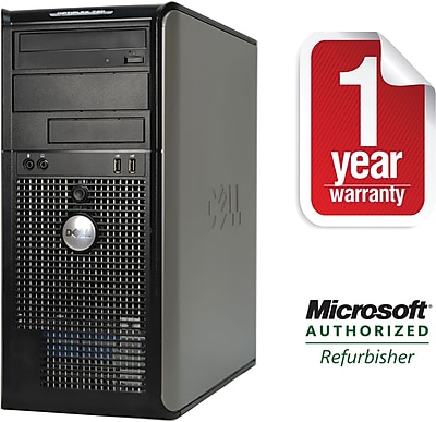 Refurbished DELL 780 Tower Core 2 Duo-2.93GHz, 4GB Ram, 750GB, DVDRW Drive with Win 10 Pro 64bit