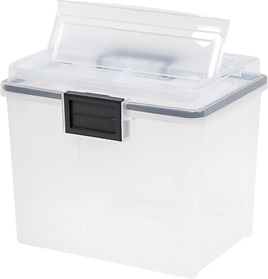 IRIS® Letter Size Portable Weathertight File Box (110351)