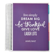 2016-2017 Erin Condren 18 Month Vertical LifePlanner™, Be Thankful, Metallic Cover (2106859)