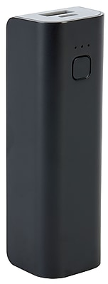 Staples Rechargeable Power Bank, 2200 mAh, Black
