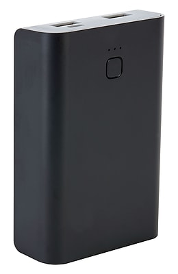 Staples Rechargeable Power Bank, 6600 mAh, Black