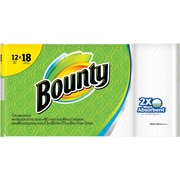 Bounty® Giant Roll Paper Towels, 12 Giant Rolls = 18 Regular Rolls/Pack