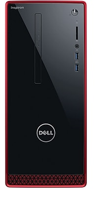 Dell i3650-11561RED Desktop, Intel Core i7-6700, 16GB Memory, 2TB Hard Drive, 2GB GFX, Windows 10, with Keyboard and Mouse