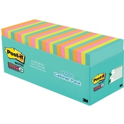 "Post-it® Super Sticky Notes, 3"" x 3"", Miami Collection, 24 Pads/Pack (654-24SSMIA-CP)"