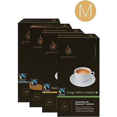 Gourmesso Coffee, Trial Bundle - Medium, 180 Nespresso compatible capsules