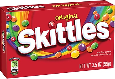 Skittles Original Candy, 3.5 oz. Theater Box, 12 Boxes