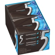 5 Gum Peppermint Cobalt Sugar-Free Gum, 10 Packs/Box (WMW51220)